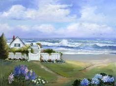 pictures of seaside cottages to draw or paint | Seaside Cottage