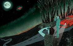 Juxtapoz Magazine - Lily Padula: Aliens Exist