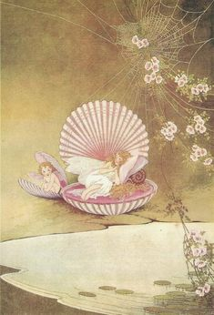 Ida Rentoul Outhwaite Australian children's book illustrator, known for her delicate depictions of fairies, and the first Australian children's book illustrator to achieve world fame. Elfen Fantasy, Fantasy Art, Gravure Illustration, Illustration Art, Les Moomins, Mermaid Fairy, Vintage Fairies, Fairytale Art, Flower Fairies