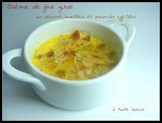 Petite Crème au foie gras abricots moelleux et amandes éffillées