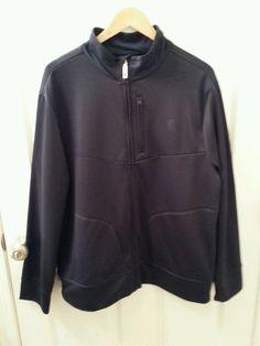 Men's FILA Sport Size Large Navy Blue Soft Shell Track Athletic Jacket Full Zip #Fila #TracksuitsSweats