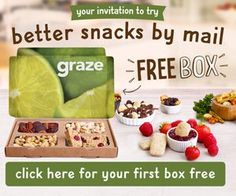 Right now, you can order a FREE snack box from Graze! You select the snacks that sound best to you, and Graze sends your Graze box right to your mailbox! Yummy Snacks, Healthy Snacks, Nutritious Snacks, Boneless Ribs, Graze Box, Slow Cooker Bbq, Homemade Salsa, Free Boxes, Snack Box