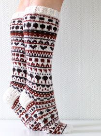 Ravelry: Suklaasukat pattern by Niina Laitinen Fair Isle Knitting, Knitting Socks, Rainbow Dog, Men In Heels, Yarn Thread, Red Green Yellow, Boot Socks, Pullover, Mittens