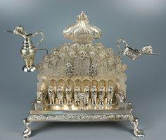 Unknown, German  Hanukkah Menorah (Hannukiah), ca. 1800  German Metalwork  Silver  Memorial Art Gallery
