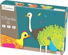 Decopatch - 42701O - Avenue Mandarine - 3 Puzzles XL - Animaux À Plumes: Amazon.fr: Jeux et Jouets