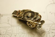 Steampunk USB Flash drive 8 Gb por Cyberart en Etsy
