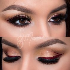 Holiday inspired makeup Elizabeth  @elymarino