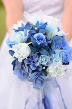 Flowers Light Blue Wedding Bouquets | Wedding Photos - Pictures by WeddingsofJoy.com