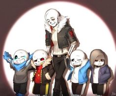 "Gaster!'s like, ""MOVE RIGHT ALONG KIDS!"" UF!'s like, ""who's this?"" UT really doesn't care, And US doesn't have a care in the world."