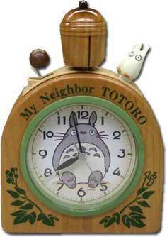 Totoro Acorn Alarm Clock with Sho Totoro $80.00 http://thingsfromjapan.net/totoro-acorn-alarm-clock-sho-totoro/