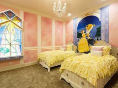 46 Awesome Disney Bedroom Design Ideas For Your Children. It's possible to create a wonderful character themed room for your little girl's that includes a range of Disney Princess Bedrooms product. Princess Theme Bedroom, Disney Themed Bedrooms, Princess Bedrooms, Bedroom Themes, Bedroom Wall, Girls Bedroom, Loft Beds For Small Rooms, Restoration Hardware Bedding, Cool Bunk Beds