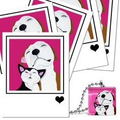Best Friends Cards & Necklace now featured on Fab.