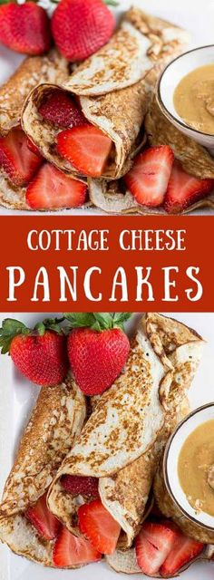 Cottage Cheese Pancakes - With these low-carb high protein cottage cheese pancakes you can enjoy America's favorite breakfast without the guilty conscience. Cottage Cheese Pancakes - With these low-carb high protein cottage cheese pancakes you can enjoy High Protein Breakfast, High Protein Low Carb, High Protein Recipes, Low Carb Recipes, Low Carb Protein Pancakes, High Protien Foods, Low Fat Pancakes, Protein Cake, Protein Muffins