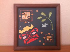 壁飾り 節分「切絵」画像1