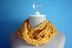 """Afternoon Sunshine"" Knit Infinity Scarf"