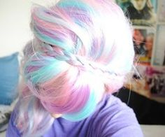 Dude, if I could snap and change it back to normal I would totally rock cotton candy hair for a minute.