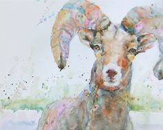 """""""crackle"""" - watercolour by Nora MacPhail // love this type of painting"""