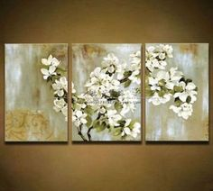 MODERN 3pc ABSTRACT HUGE WALL ART Hand OIL PAINTING ON CANVAS (No frame)  #new #Abstract