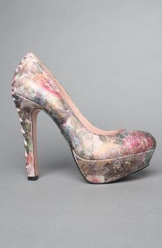 The Dita Shoe in Blush Floral Leather Women's Shoes By Betsey Johnson