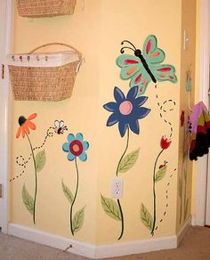 girl bedroom wall designs - Google Search