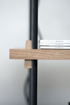 Wood and metal rod connection