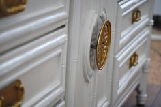 Hardware Detail, Brass Hardware, Asian Hardware, Painted Furniture, Faux Bamboo, Natalie Cox, Natty by Design