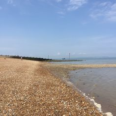Harbour Beach, Whitstable. Looking towards the Harbour.