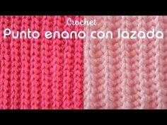 Punto enano con lazada a crochet - YouTube Crochet Stitches Patterns, Stitch Patterns, Crotchet, Knit Crochet, Crochet Basics, Crafty, Knitting, Sewing, Youtube