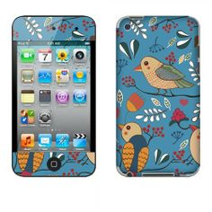 Fincibo (TM) Apple iPod Touch 4 4th Generation Accessories Skin Vinyl Decal Sticker - Blue Vintage Garden FINCIBO,http://www.amazon.com/dp/B00IIIH0AE/ref=cm_sw_r_pi_dp_iyyEtb03KYJ3XJT7