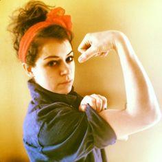 Orphan Black's Tatiana Maslany is Rosie the Riveter