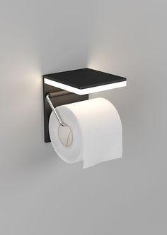 What a cool idea! An LED light over the toilet paper roll – stylish, and functional.