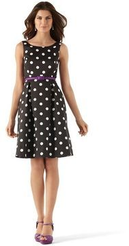 ShopStyle: White House Our Connect-The-Dot Dress