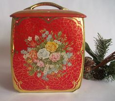 Vintage Candy Tin Made in Western Germany by VintageHomeShop, $9.00