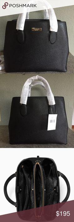 "Kate Spade Laurel Way Evangeline Bag Brand New never used still in original packaging Kate Spade New York Laurel Way Evangelie Saffiano Leather Shoulder Bag. Dual leather handles with drop of approximately 3.75"" includes an optional adjustable strap with max drop of approx 17"".  11.5"" (L) x 9.25"" (H) x 5.25"" (W) kate spade Bags Satchels"