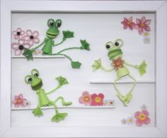 *QUILLING ~ 3D Quilled Frogs