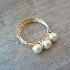 Swarovski simulated pearls with gold filled wire