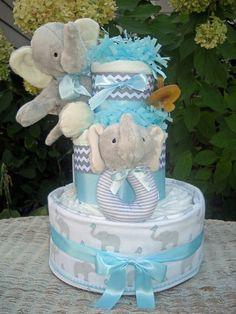 elephant diaper cakes - Google Search                              …