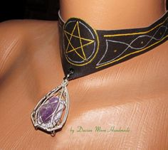 Pentagram necklace with interchangeable by DacianMoonHandmade