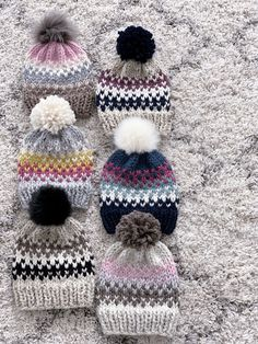 Hat Knitting Pattern, Easy Fair Isle Knit Beanie – Peony Knits This easy fair isle knitting pattern is the perfect fall project. Find this pattern and more at Peo Fair Isle Knitting Patterns, Knitting Machine Patterns, Chunky Knitting Patterns, Loom Knitting, Hand Knitting, Crochet Patterns, Fair Isle Pattern, Vintage Knitting, Stitch Patterns