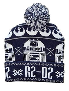 20d7a19e29880 Star Wars R2D2 Cuff Pom Beanie Winter Hat   Price   11.95   FREE Shipping