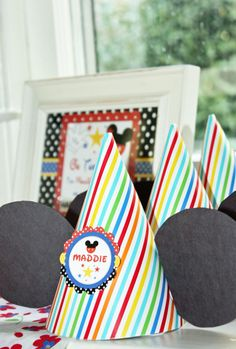 DIY Mickey Mouse Hat  How To~ Super easy, super cute! Hats from @Target