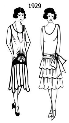 fashion coloring pages | 1920-1930 Photographs of Real People in Flapper Dress Fashions