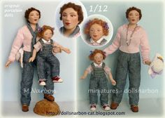 Scale 1/12 Young woman and little girl with jeans https://www.etsy.com/listing/97453608/your-custom-doll-112-porcelain-doll-to?ref=shop_home_active_2