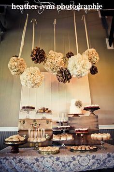 Another example of hanging pomanders - we could do them in a variety of colors using tissue paper!
