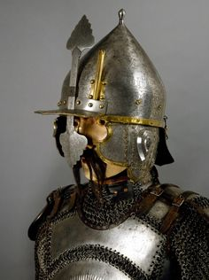 Ottoman chichak type helmet with krug (chest armor), 16th century. Stibbert Museum.