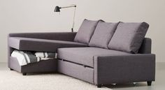 IKEA Catalog 2015. mil thought this one sleeps comfortably, stores bedding and looks great and is soft slate gray.