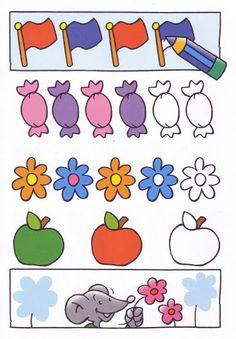 Coloreo siguiendo la serie Matching Worksheets, Kindergarten Readiness, Math For Kids, Writing Skills, Repeating Patterns, Pre School, Preschool Activities, Happy Halloween, Colors