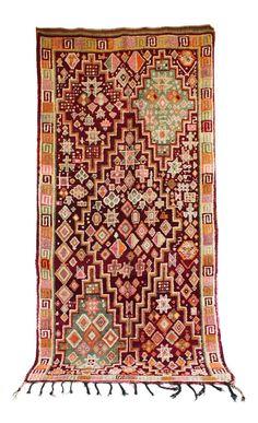 "Vintage Beni M'Guild Moroccan Berber Rug, 5'7"" x 11'3"" feet / 171 x 343 cm (BM739)"