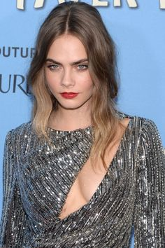 Cara Delevingne at the 2015 New York premiere of 'Paper Towns'. http://beautyeditor.ca/2015/07/25/best-celebrity-beauty-looks-ashley-benson