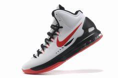 kevin durant shoes 2013 Nike KD V White Sport Red Black
